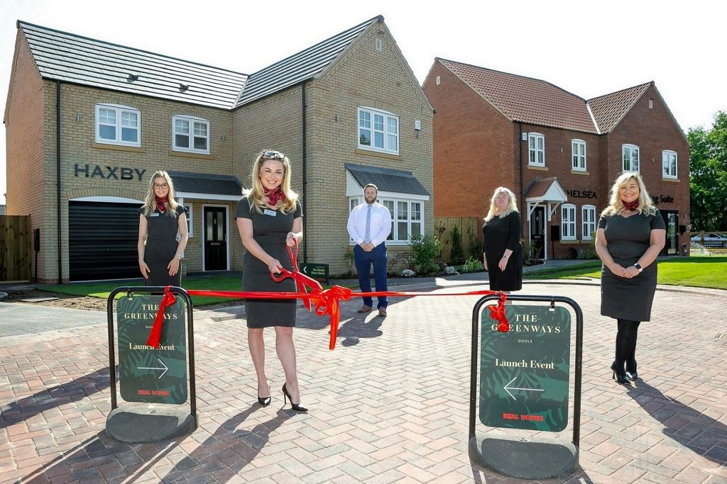 The Beal team cuts the ribbon to open the new show homes at Goole